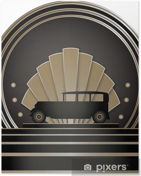 Poster Art Deco Stye Emblem - Bakgrunder