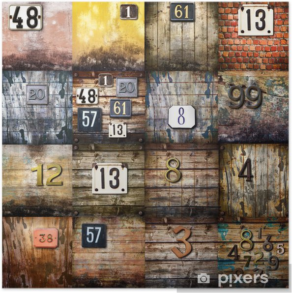 Poster Arte urbana collage - Textures