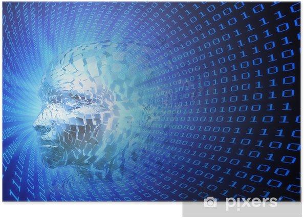 Poster Artificial concept illustration de renseignement - Signes et symboles
