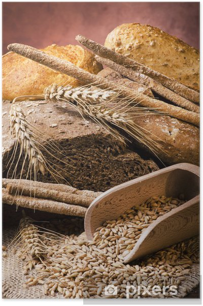 Poster Assortiment de pain de grains entiers - Thèmes