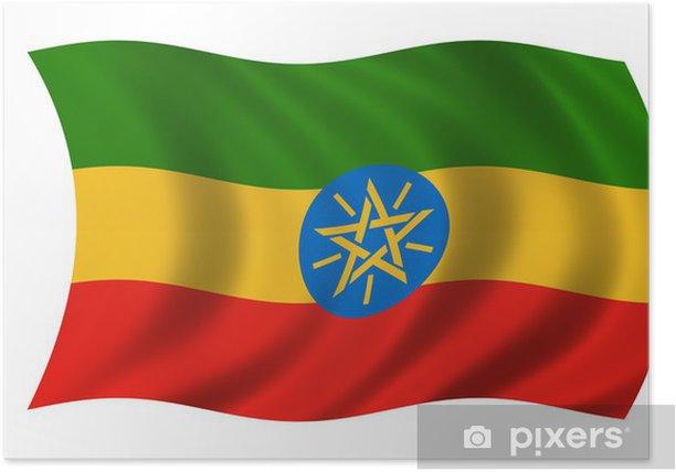 Poster Äthiopien Fahne drapeau de l'ethiopie - Afrique