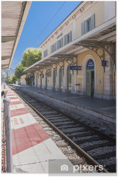 Poster Aubagne, près de Marseille, France, gare .. - Paysages urbains