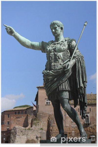 Poster Auguste, premier empereur romain - Villes européennes
