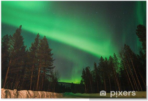 Poster Aurora sur la route - Pôle nord et Pôle sud