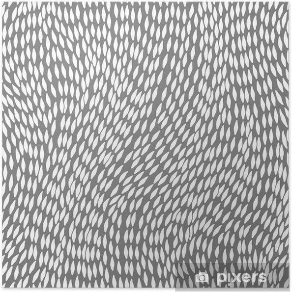 Póster Autoadhesivo Abstracto sin patrón dibujado a mano, las olas de fondo - Fondos