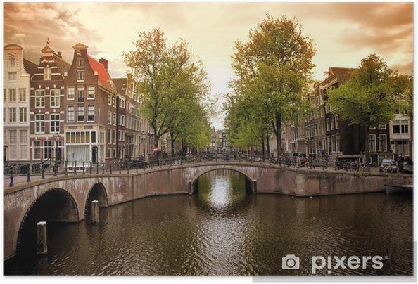 Póster Autoadhesivo Amsterdam canales - Temas