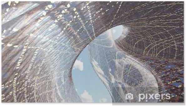 Póster Autoadhesivo Arquitectura contemporánea - Construcciones y arquitectura