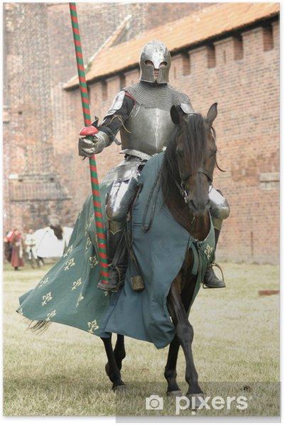 Póster Autoadhesivo Caballero en el caballo - Caballeros