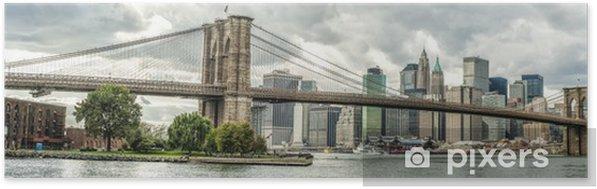 Póster Autoadhesivo El puente de Brooklyn en la ciudad de Nueva York, EE.UU. - Temas