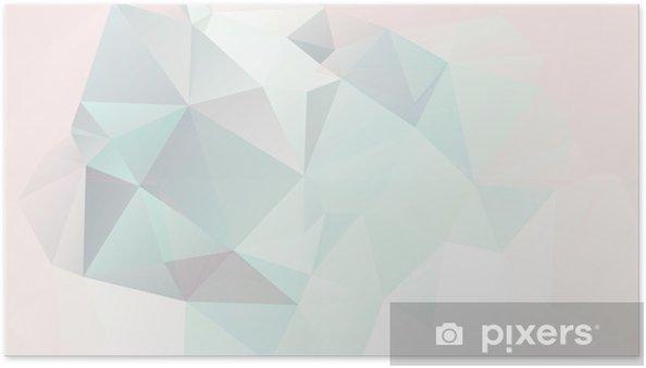 Póster Autoadhesivo Fondo geométrico suave en colores pastel abstracto con degradados vector - Estilos
