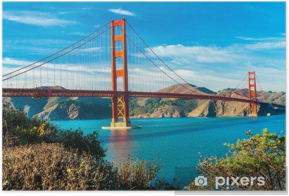 Póster Autoadhesivo Golden Gate, San Francisco, California, EE.UU.. - América del Norte