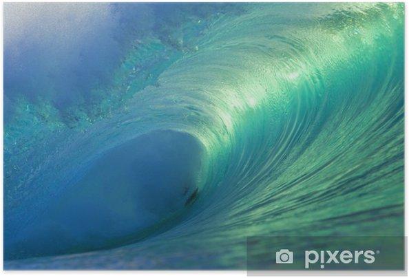 Póster Autoadhesivo Hawaii Ola barril vacío 4 - Mar y océano