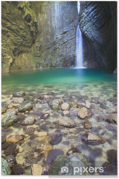 Póster Autoadhesivo Kozjak cascada - Maravillas de la naturaleza