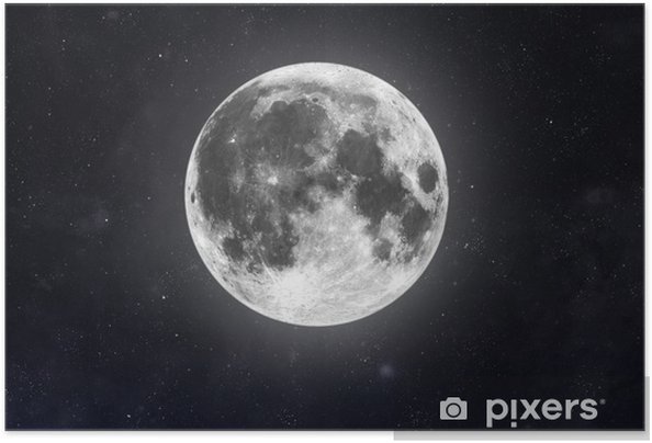 Póster Autoadhesivo Luna - Espacio exterior