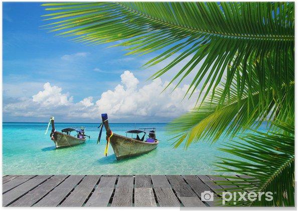 Póster Autoadhesivo Mar tropical - Superventas