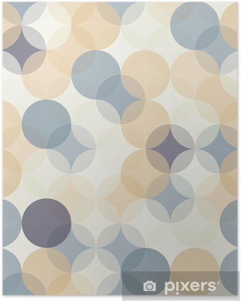Póster Autoadhesivo Modernos del vector círculos patrón de colores sin fisuras geometría, el color de fondo abstracto geométrico, impresión del papel pintado, textura retro, diseño de moda del inconformista, __ - Recursos gráficos