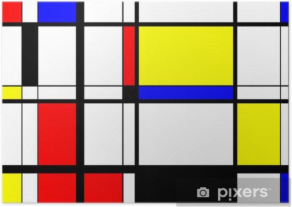 Póster Autoadhesivo Mondrian Arte digital - iStaging