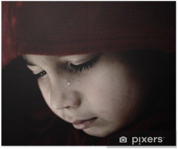 Póster Autoadhesivo Niño triste llorando - Temas