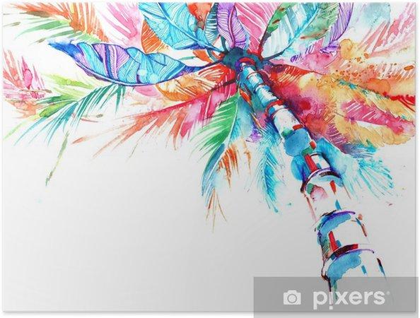 Póster Autoadhesivo Palma - Plantas y flores