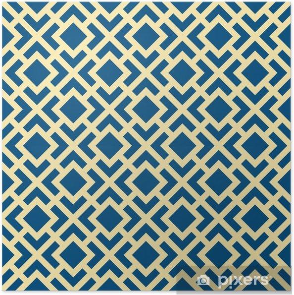 Póster Autoadhesivo Patrón abstracto geométrico del art déco del enrejado del vector - Recursos gráficos
