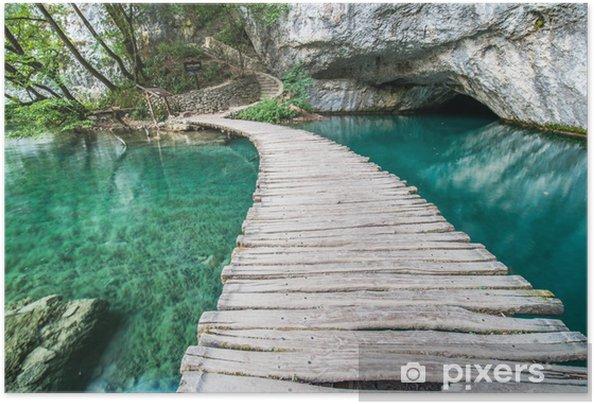Póster Autoadhesivo Puente de Plitvice - Temas