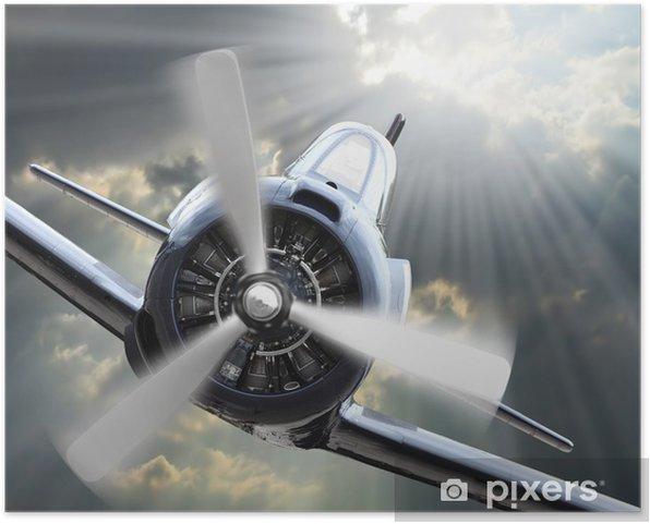 Póster Autoadhesivo The Fighter. Tema de la tecnología retro. - Temas