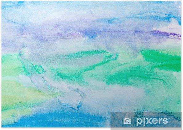 Póster Autoadhesivo Trazos de color acuarela, arte, pintura - Texturas