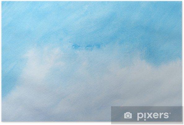 Póster Autoadhesivo Trazos de color acuarela, arte, pintura - Educación