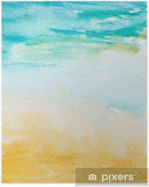 Póster Autoadhesivo Trazos de color acuarela, arte, pintura - Estilos