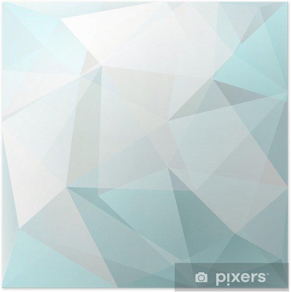 Póster Autoadhesivo Triángulo fondo abstracto, vector - Texturas