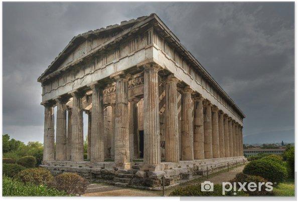 Poster autocollant Ancient Temple de Héphaïstos, Athènes - Villes européennes