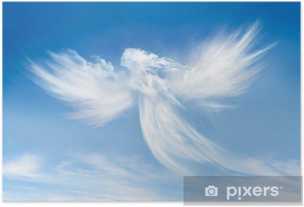 Poster autocollant Ange dans les nuages - Religion