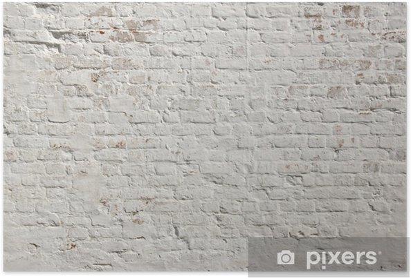 Poster autocollant Blanc grunge fond mur de briques - Styles