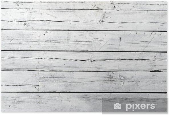 Poster autocollant Bois patiné blanc - Thèmes