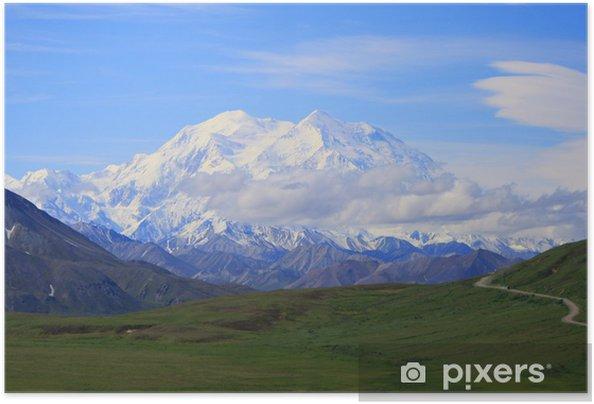 Poster autocollant Denali, le mont McKinley en Alaska - Nature et régions sauvages