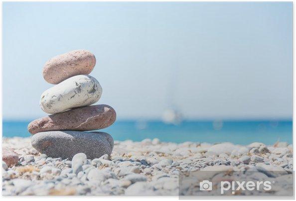 Poster autocollant Détente sur la plage - Thèmes