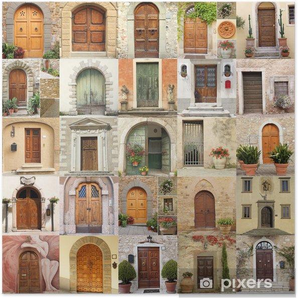 Poster autocollant Fond d'écran avec des portes anciennes en Italie - Europe