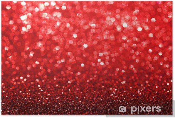 Poster autocollant Fond paillettes rouge - Fêtes internationales
