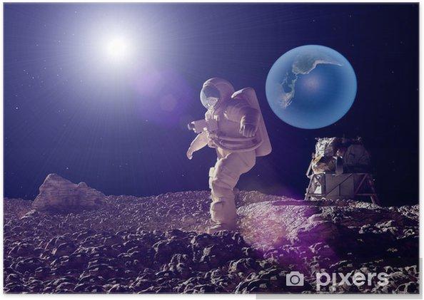Poster autocollant L'astronaute - Thèmes