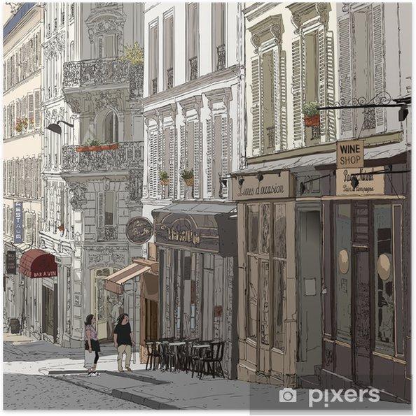 Poster autocollant Rue à Montmartre - Thèmes