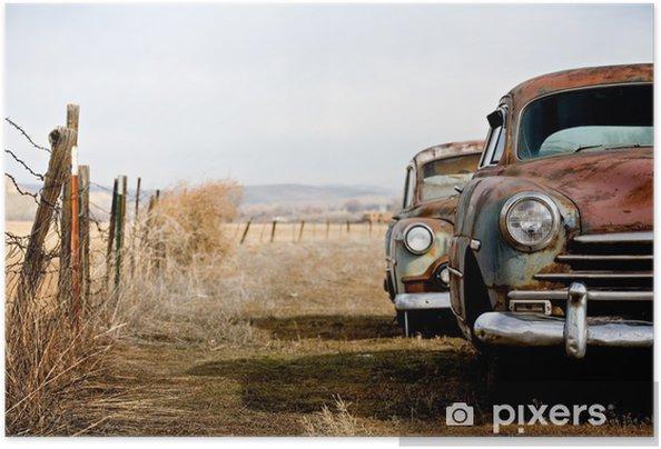 Poster autocollant Voitures vintage - Sur la route
