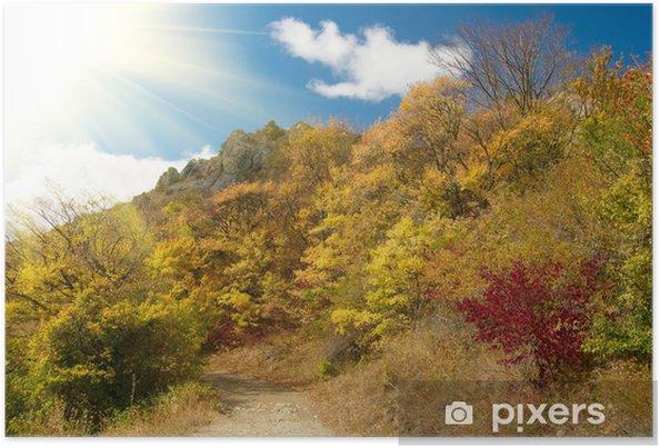 Poster Autumn park - Saisons