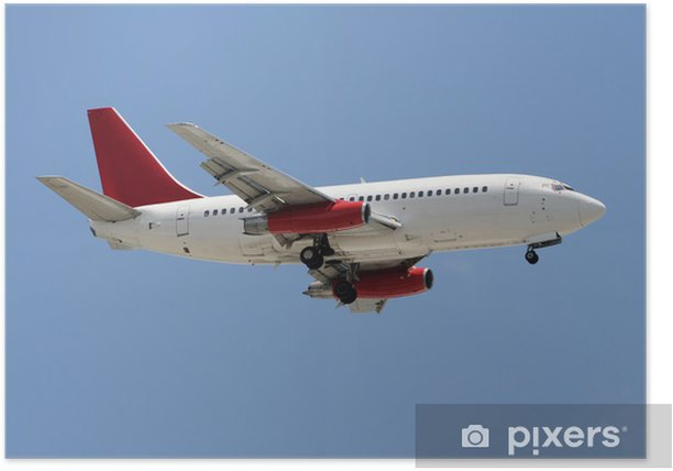 Poster Avion avion de ligne - Dans les airs