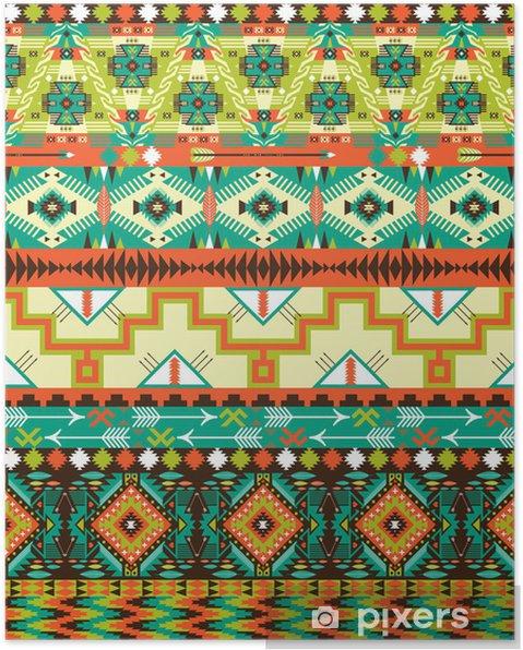 Poster Aztec seamless géométrique - Styles