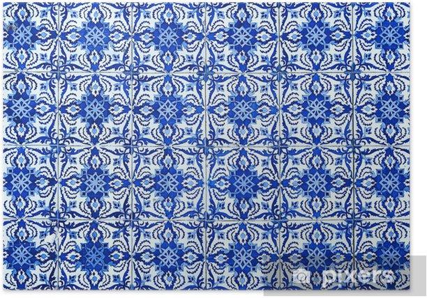 Poster Azulejos, carreaux traditionnels portugais - Thèmes