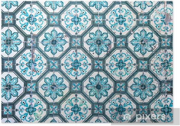 Azulejos, traditional Portuguese tiles Poster - Tiles