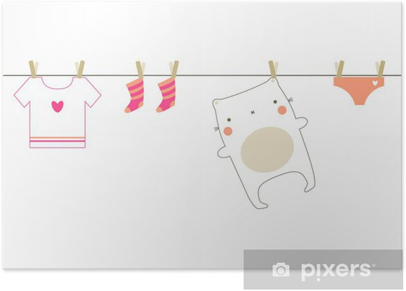 Baby laundry Poster -