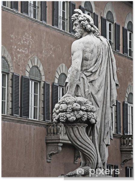 Poster Bacchus, dieu du vin, Florence - Monuments