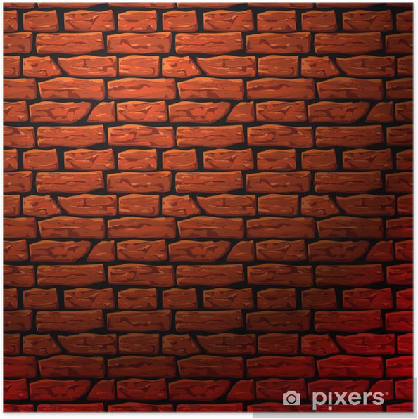 Background of brick wall texture, vector Eps10 illustration Poster