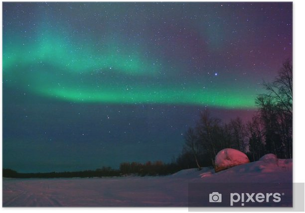 Background showing Northern lights in the sky Poster - Other Feelings